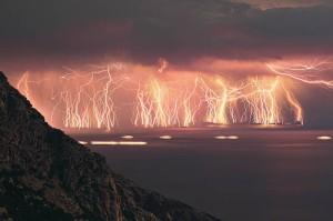 Lightning storm image